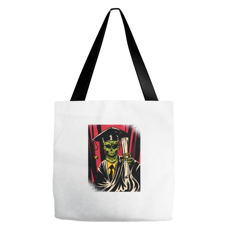 Graduate Skull Tote Bags   Artistshot