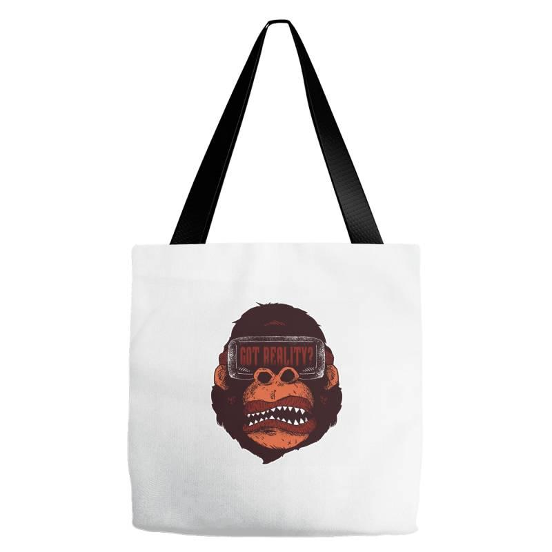 Gorilla Reality Tote Bags | Artistshot