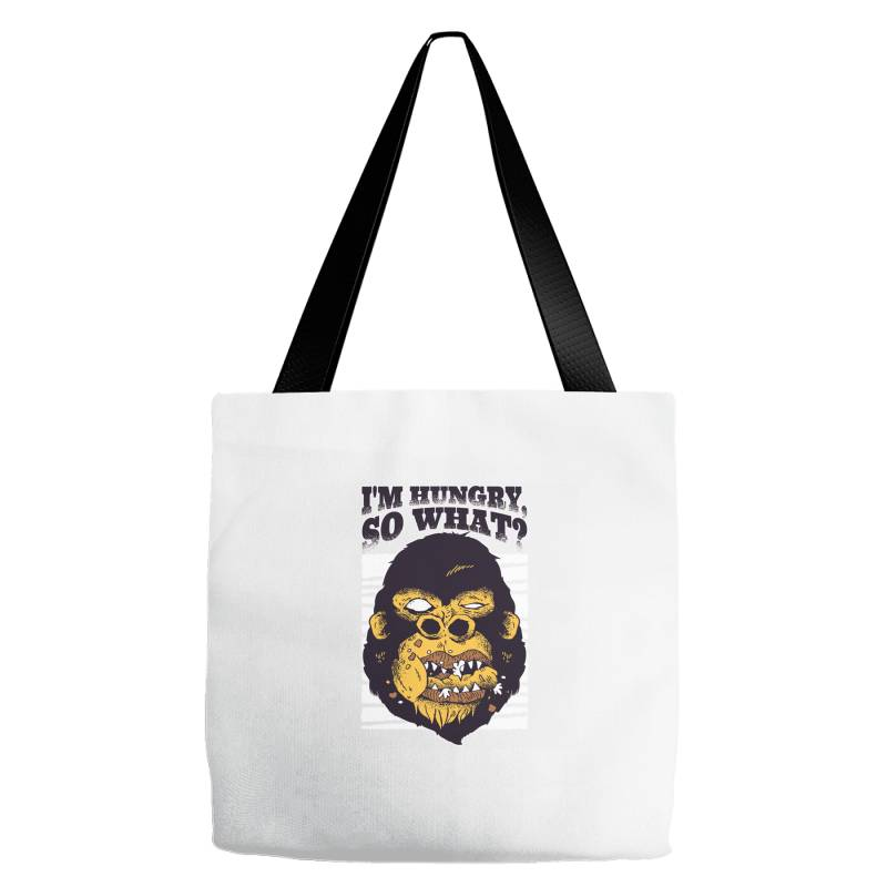 Gorilla Hungry Tote Bags | Artistshot