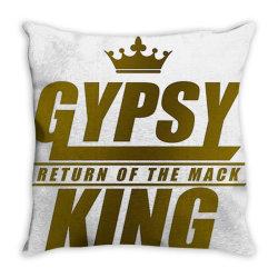 the gypsy king boxer Throw Pillow   Artistshot