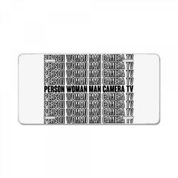 top person woman man camera tv License Plate | Artistshot