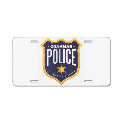 grammar police badge License Plate   Artistshot