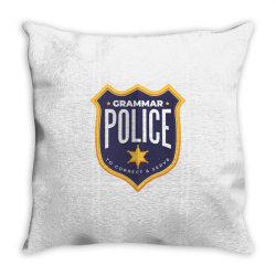 grammar police badge Throw Pillow   Artistshot