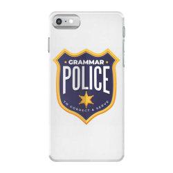 grammar police badge iPhone 7 Case   Artistshot