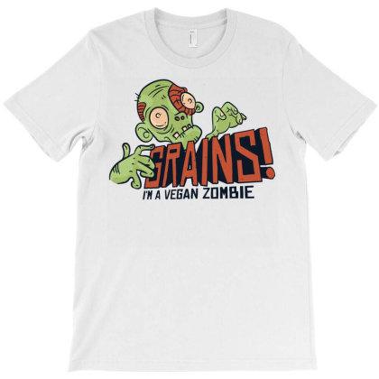 Grains Vegan Zombie T-shirt Designed By Zizahart