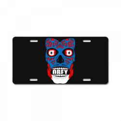 obey face funny License Plate | Artistshot