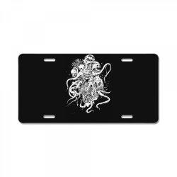 octopus skull death metal License Plate | Artistshot