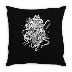 octopus skull death metal Throw Pillow | Artistshot