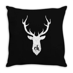 oh deer Throw Pillow | Artistshot