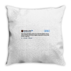 trump is smarter tweet Throw Pillow | Artistshot