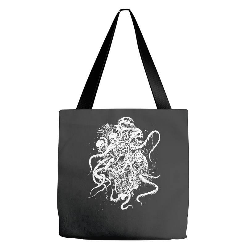 Octopus Skull Death Metal Tote Bags | Artistshot