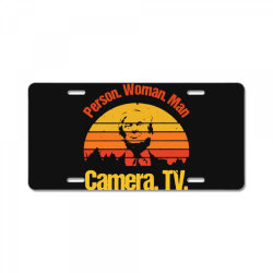 trump person woman man camera tv vintage License Plate | Artistshot