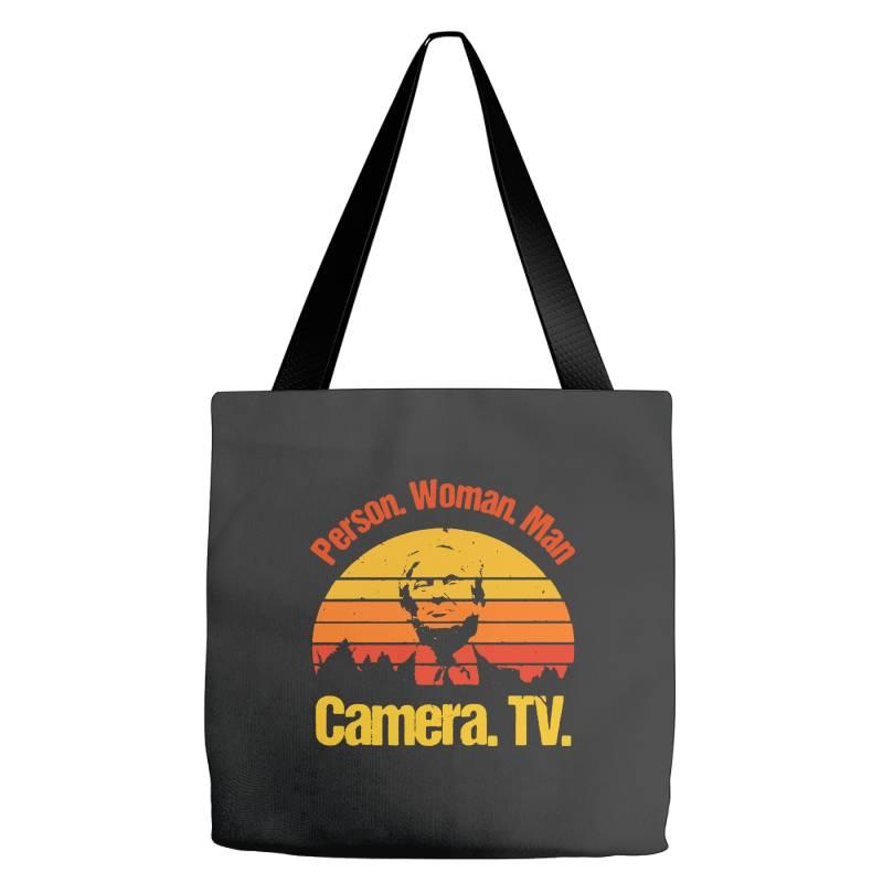 Trump Person Woman Man Camera Tv Vintage Tote Bags | Artistshot