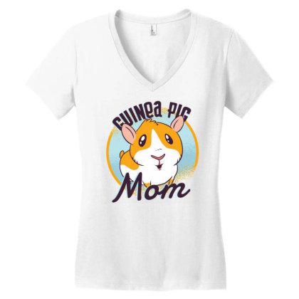 Guinea Pig Mom Women's V-neck T-shirt Designed By Zizahart