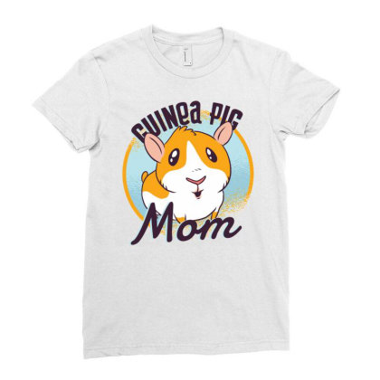 Guinea Pig Mom Ladies Fitted T-shirt Designed By Zizahart