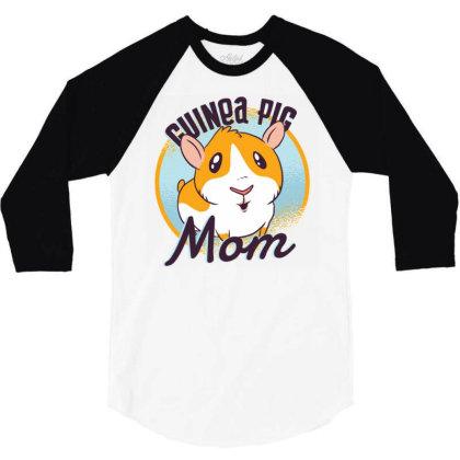 Guinea Pig Mom 3/4 Sleeve Shirt Designed By Zizahart