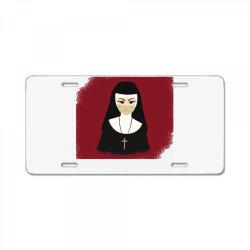 halloween nun License Plate   Artistshot