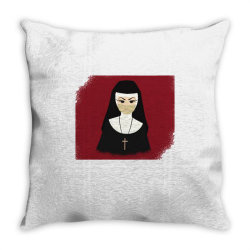 halloween nun Throw Pillow   Artistshot