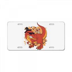 halloween pug and dinosaur License Plate | Artistshot