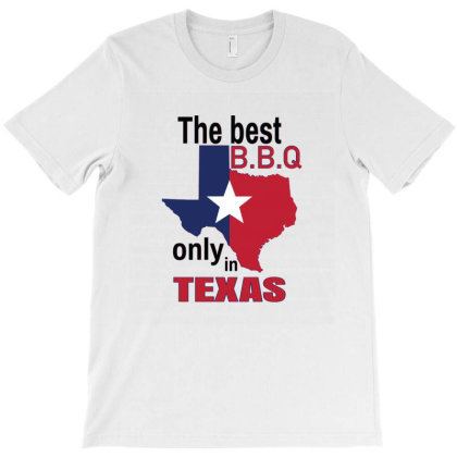 The Best B.b.q Only In Texas T-shirt Designed By Emardesign