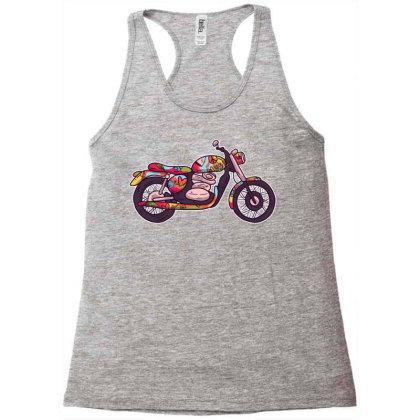 Hippie Motorcycle Racerback Tank Designed By Zizahart