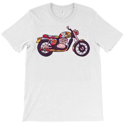 Hippie Motorcycle T-shirt Designed By Zizahart