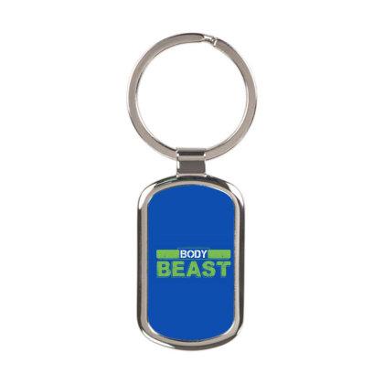 Body Beast Rectangle Keychain Designed By Tshiart