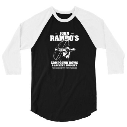 John Rambo's Compound Bows & Archery Supplies 3/4 Sleeve Shirt Designed By Brias
