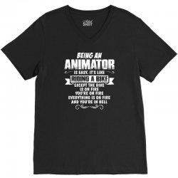 being an animator V-Neck Tee   Artistshot
