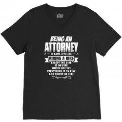 being an attorney V-Neck Tee | Artistshot