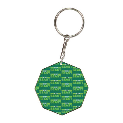 Body Beast Octagon Keychain Designed By Tshiart