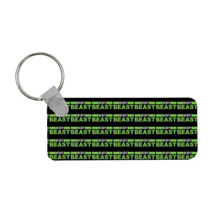 Body Beast Frp Rectangle Keychain Designed By Tshiart