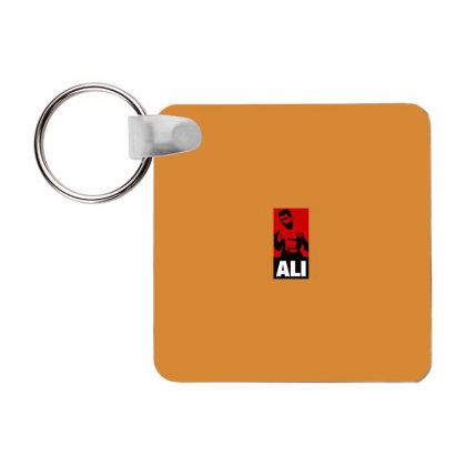 Muhammad Ali Frp Square Keychain Designed By Tshiart