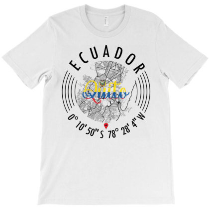 Quito Road Map Art - Earth Tones T-shirt Designed By Artistic Paradigms