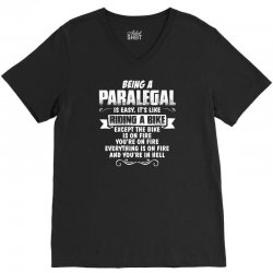 being a paralegal V-Neck Tee | Artistshot