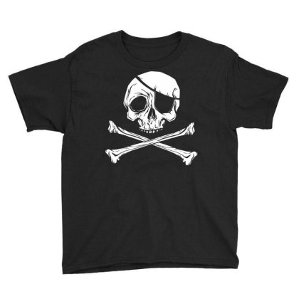 Jolly Roger Pirate Youth Tee Designed By Zizahart
