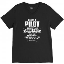 being a pilot V-Neck Tee | Artistshot