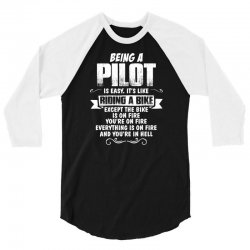 being a pilot 3/4 Sleeve Shirt | Artistshot