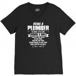 being a plumber V-Neck Tee   Artistshot