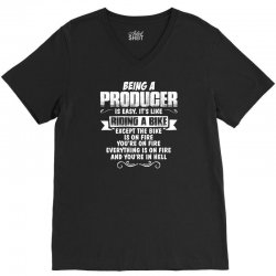 being a producer V-Neck Tee | Artistshot
