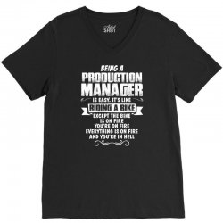 being a production manager V-Neck Tee | Artistshot