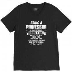 being a professor V-Neck Tee | Artistshot