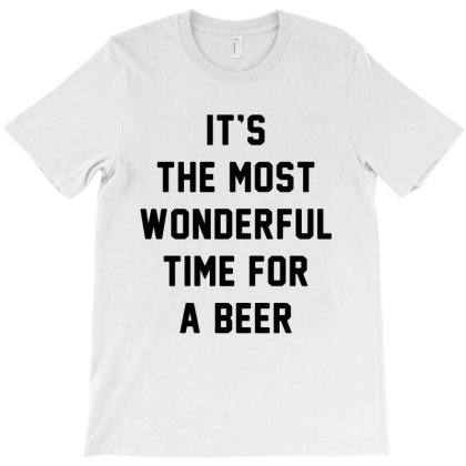The Most Wonderful Time For A Beer T-shirt Designed By Firework Tess