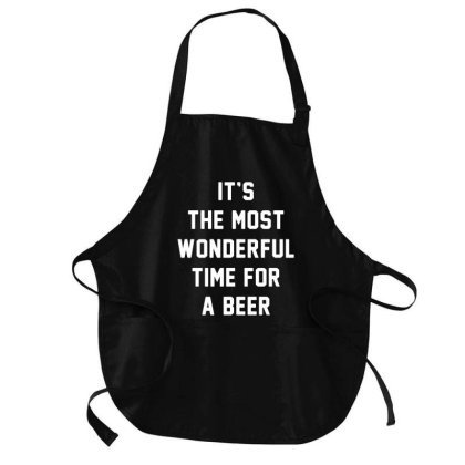 The Most Wonderful Time For A Beer Medium-length Apron Designed By Firework Tess