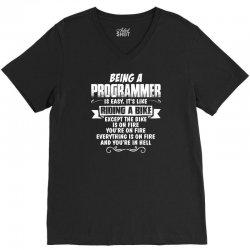 being a programmer V-Neck Tee | Artistshot
