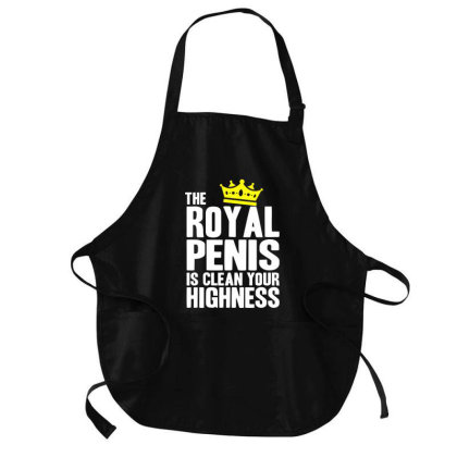 The Royal Penis Is Clean Medium-length Apron Designed By Firework Tess