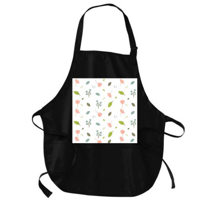 Floral Leaves Pattern Medium-length Apron Designed By American Choice