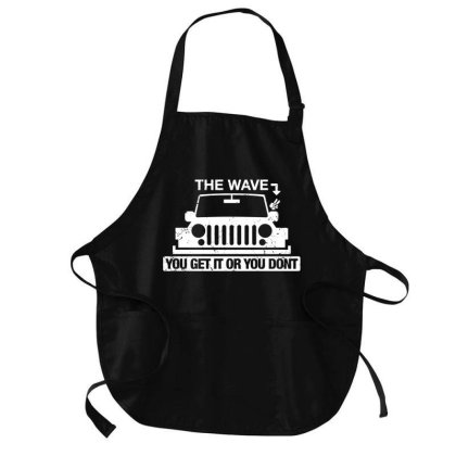 The Wave You Get Or Dont Medium-length Apron Designed By Firework Tess