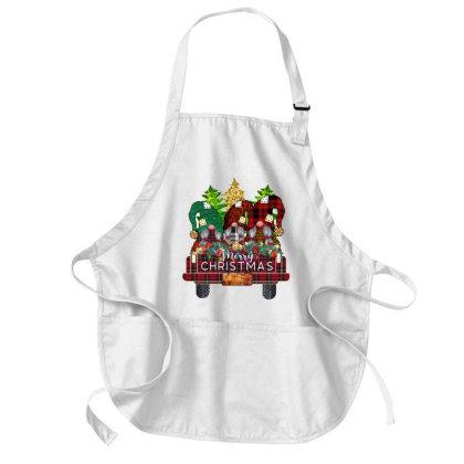 Christmas Gnomes Merry Christmas Medium-length Apron Designed By Badaudesign