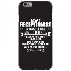 being a receptionist iPhone 6/6s Case | Artistshot